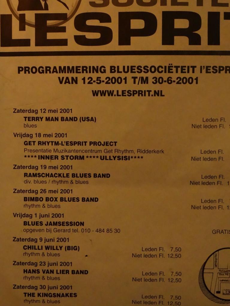 Bluessocieteit l'Esprit 2001